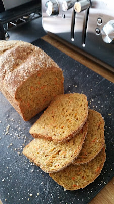 Whole Grain Carrot Chia & Honey Bread. Use ABM for dough only or complete loaf.