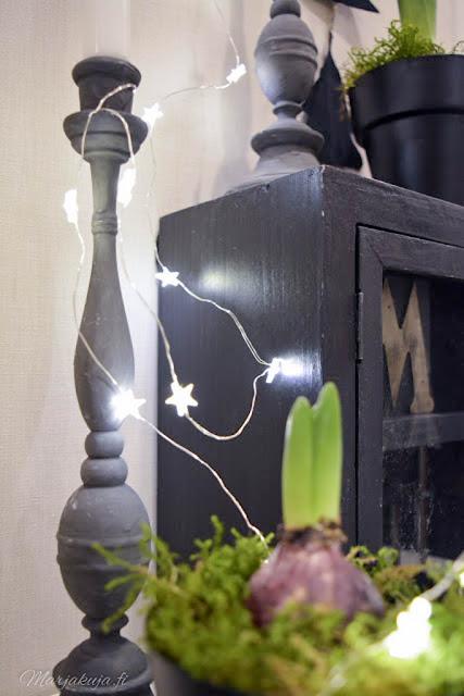 kynttilä hyasintti skandinaavinen joulu