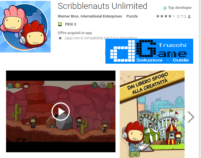 Soluzioni Scribblenauts Unlimited di tutti i livelli | Walkthrough guide
