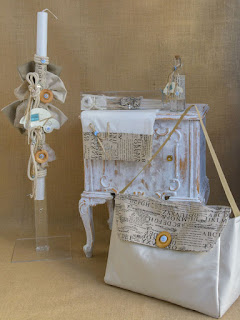 car greek baptism lapada set in vintage style