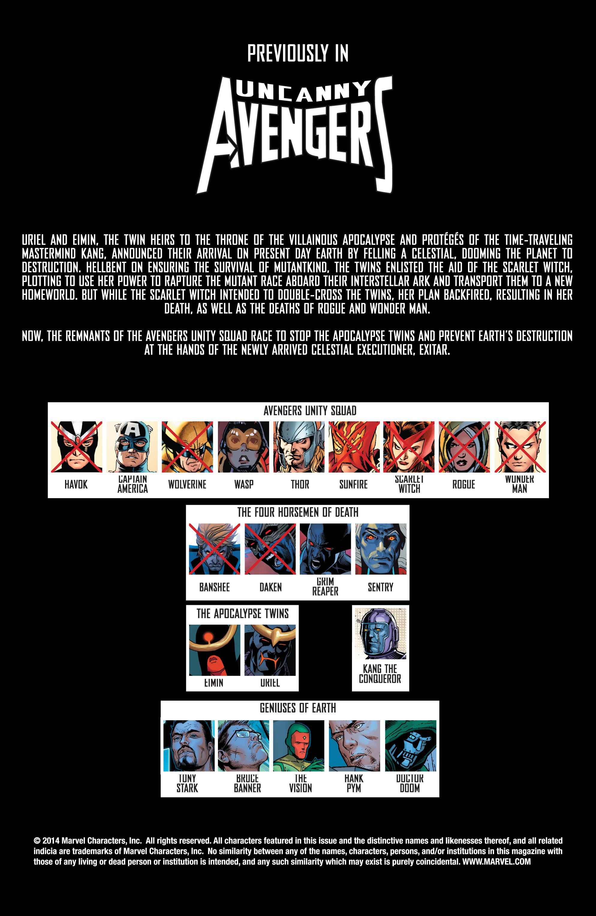 Read online Uncanny Avengers (2012) comic -  Issue #16 - 2