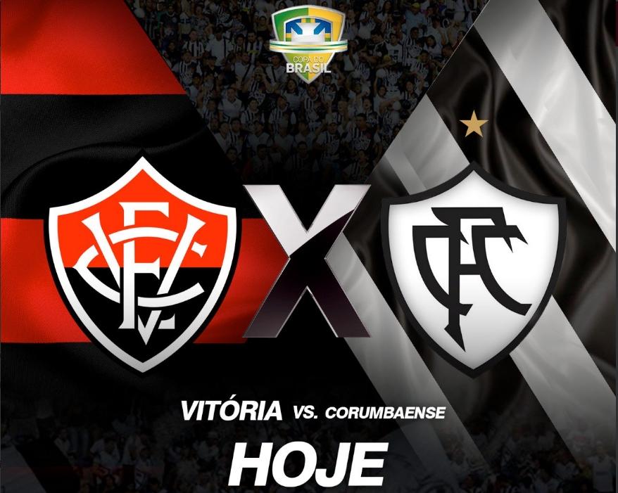 Vitória x Corumbaense ao vivo HD pela Copa do Brasil 1