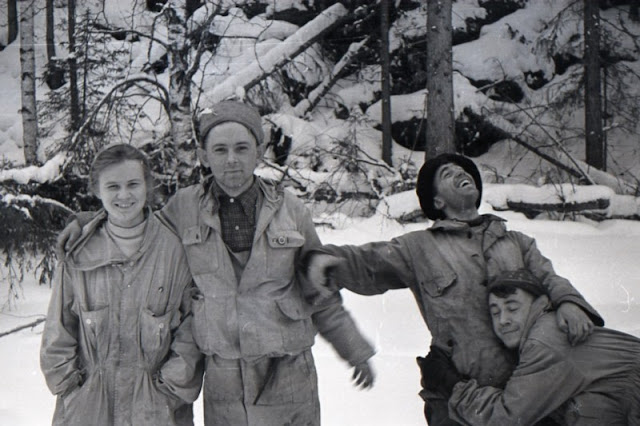 Los miembros de la expedición, antes de fallecer