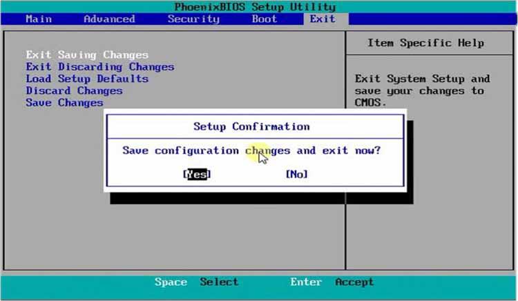 langkah 4: cara instal windows 7, exit setup menu