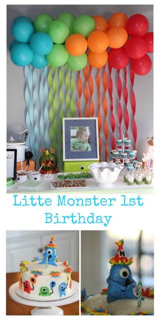 Little Monster Themed Toddler birthday party