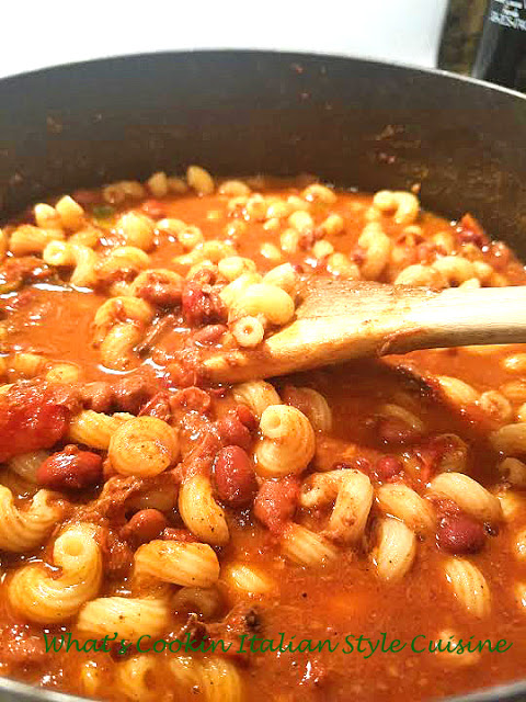 Chili Mac recipe card
