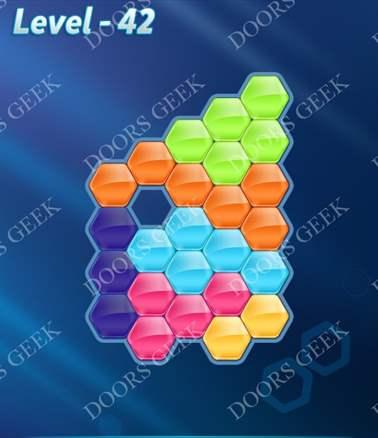 Block! Hexa Puzzle [6 Mania] Level 42 Solution, Cheats, Walkthrough for android, iphone, ipad, ipod