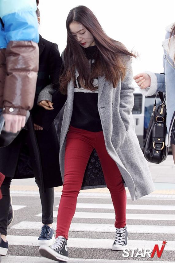 Airport Fashion Winter Celebrity
