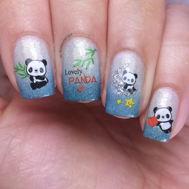 Born Pretty Store - Cute Panda Decals
