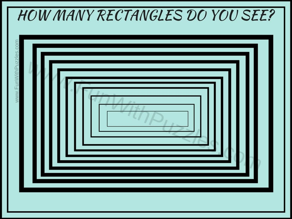 Rectangles Counting Picture Puzzle with Answer - Brain\'s Yoga