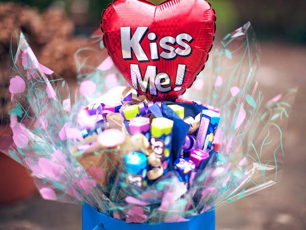 Valentine Smarties Bouquet