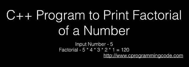 C++ Program to Print Factorial of a Number