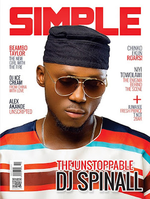 DJ Spinall covers Latest Issue of SIMPLE Magazine