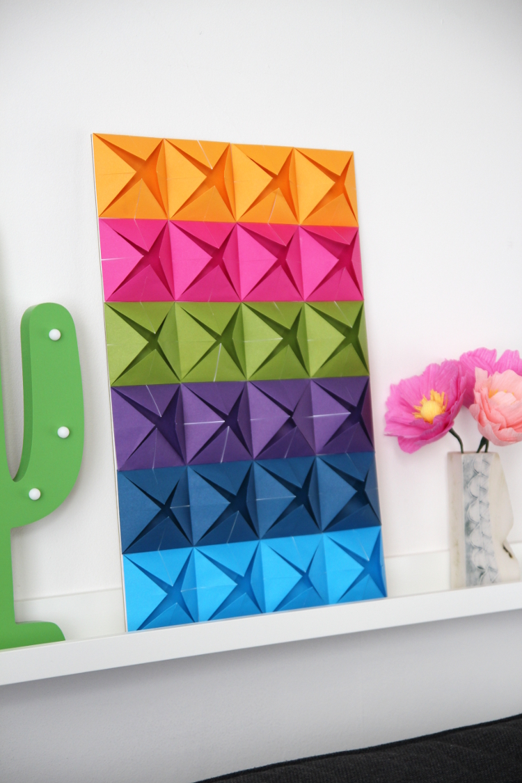 easy origami wall art gathering beauty
