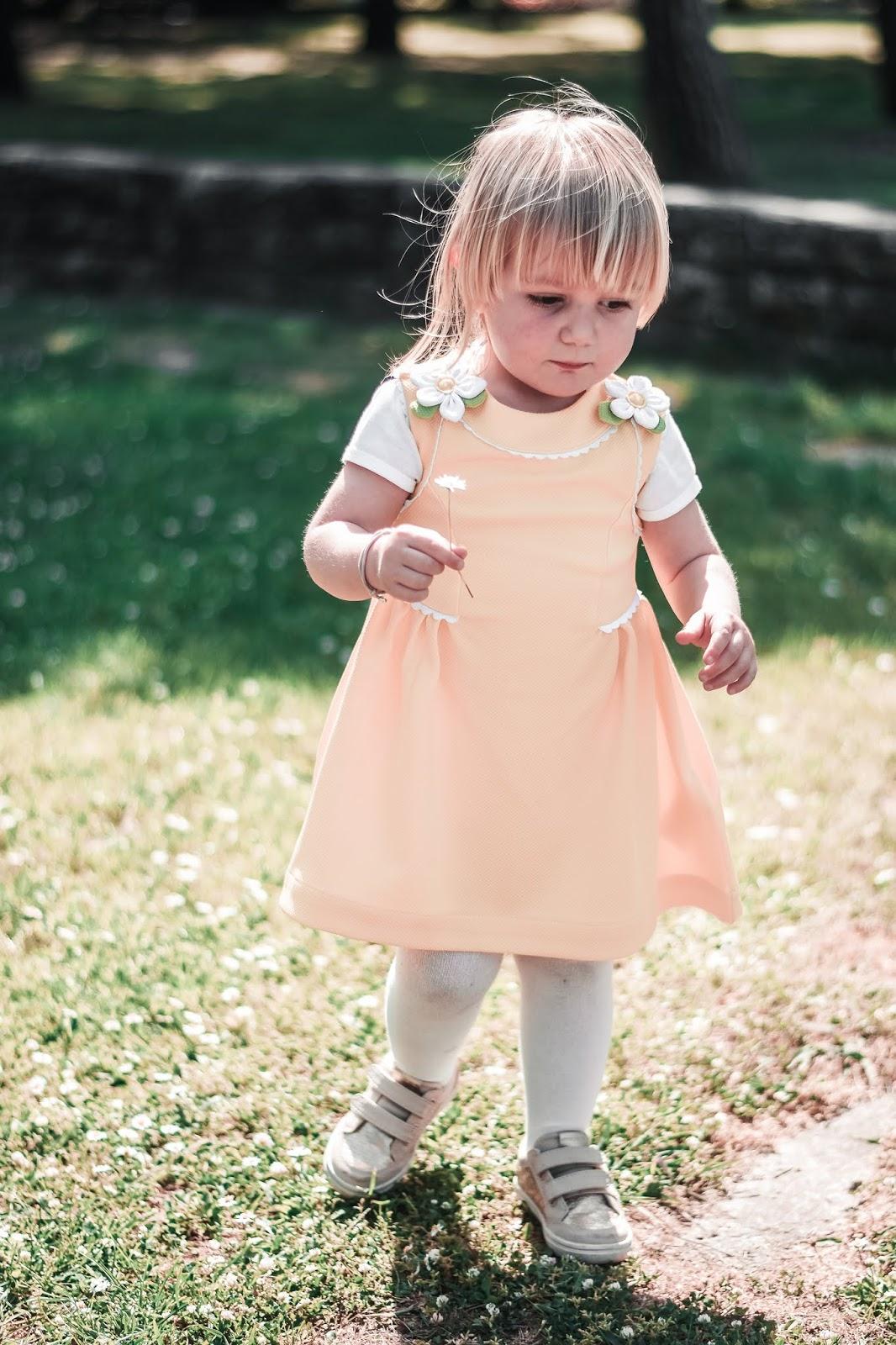 abito bambina giallo
