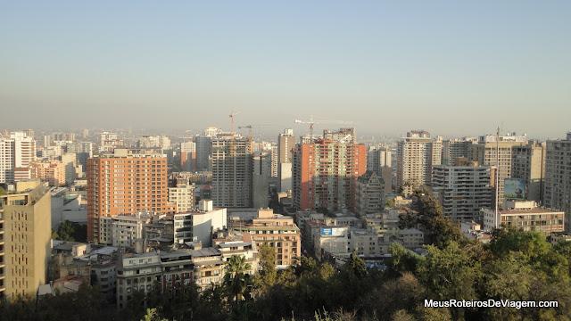 Cidade de Santiago vista do Mirante do Cerro Santa Lucía