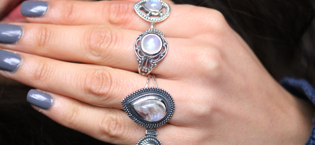 Gemstone Silver Jewelry Moonstone Rings review