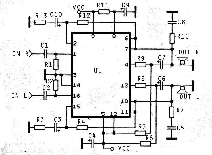amplifier circuit using stk459 audio picture