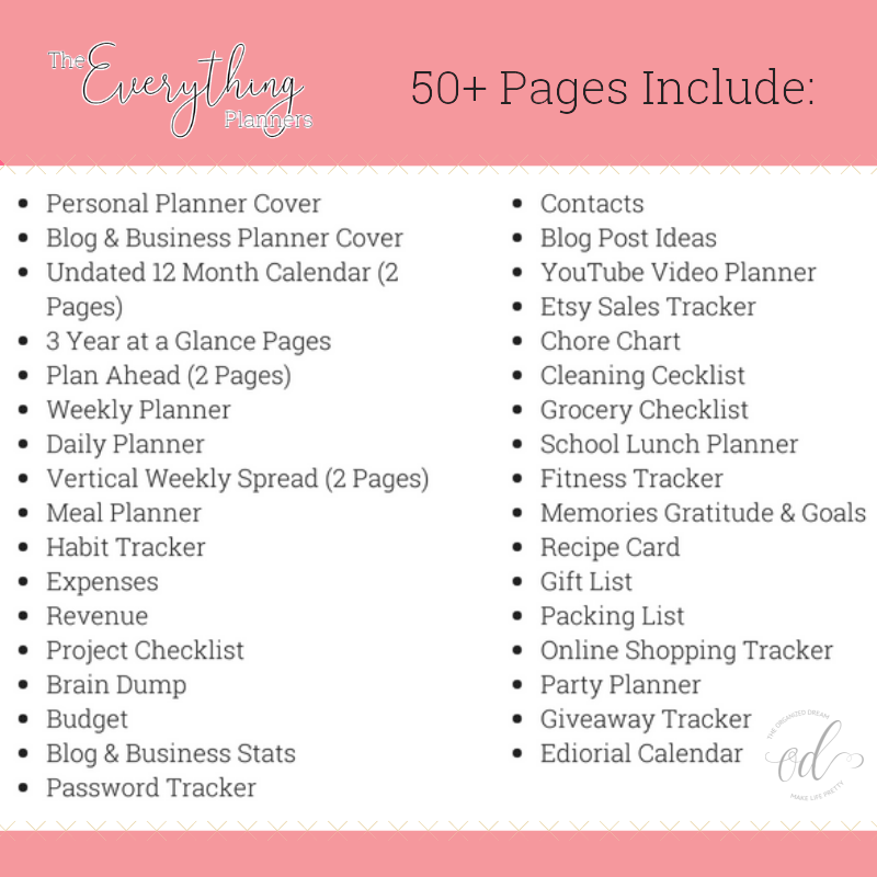 Free Planner Printable Pages The All New Everything Planners