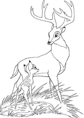 Gambar Mewarnai Bambi - 17