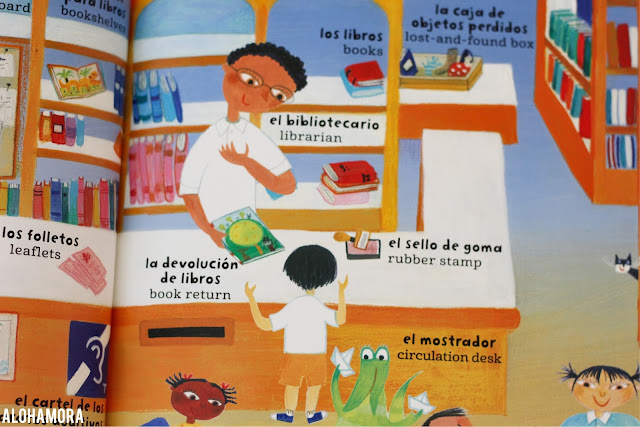 My Big Barefoot Book of Spanish and English Words by Sophie Fatus a dual language non-fiction book to browse. Perfect for dual language classrooms or kids to learn spanish. Book review gets 3.5 out of 5 stars. Alohamora Open a Book alohamoraopenabook http://alohamoraopenabook.blogspot.com/