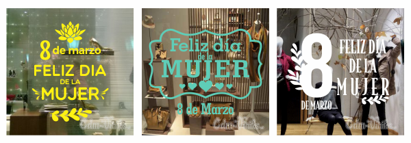 vinilo decorativo vidriera dia de la mujer women day 2019