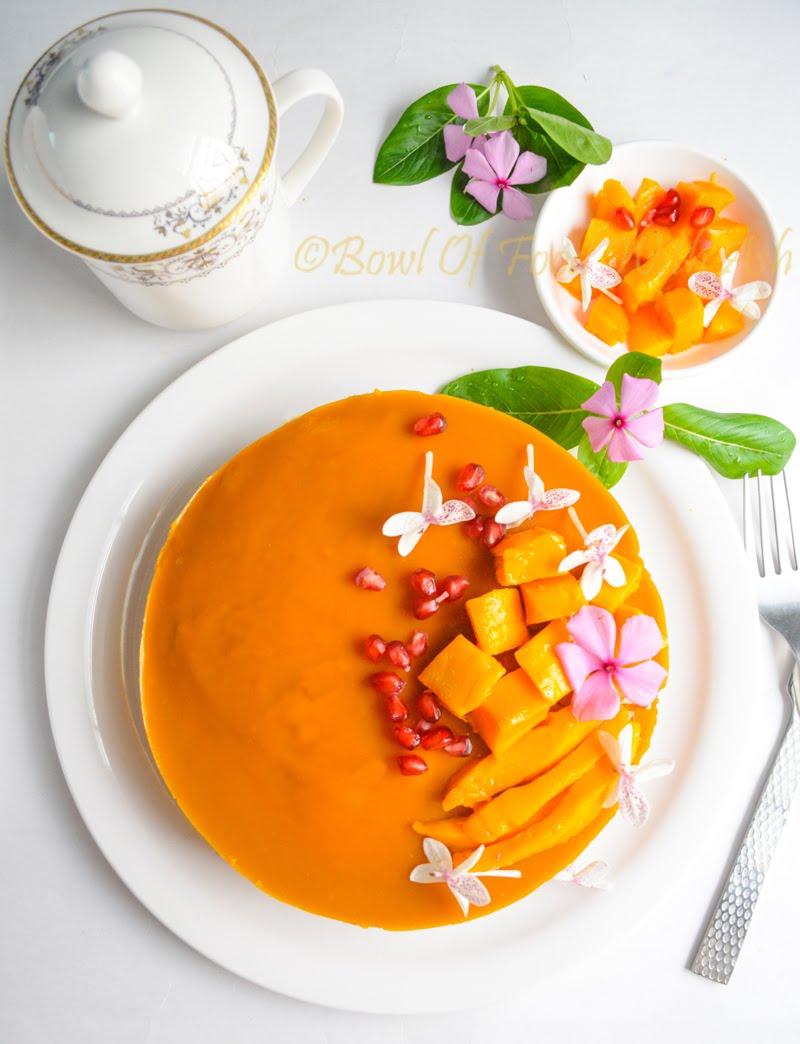 Eggless Mango Cake Recipe | How To Make Eggless Mango Cake