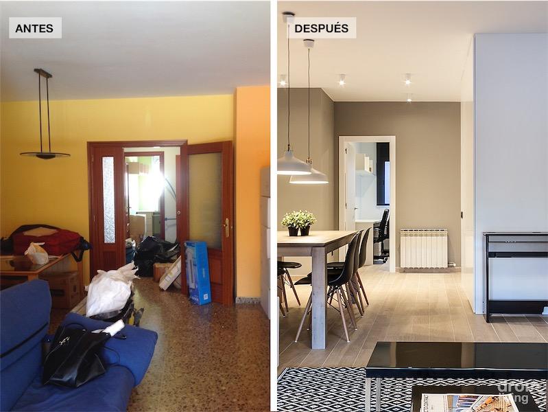 El antes y despues de una vivienda reformada por completo for Decorar piso viejo