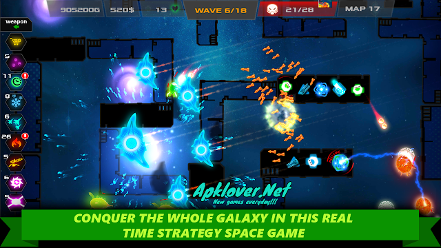 Galaxy glow defense MOD APK unlimited money