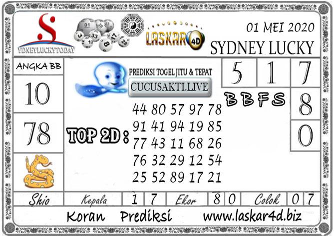 Prediksi Sydney Lucky Today LASKAR4D 01 MEI 2020