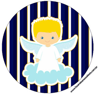 Blondie Angel Toppers or Free Printable Candy Bar Labels.