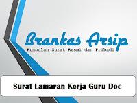 Download Contoh Surat Lamaran Kerja Doc
