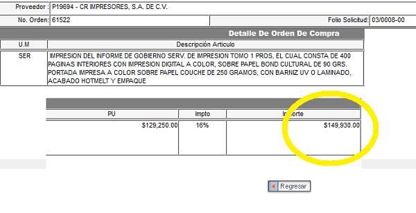 Gobernador de Jalisco se gastó 150 mil pesos para imprimir 400 hojas ...