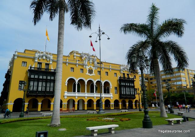 Praça de Armas, no Centro Histórico de Lima