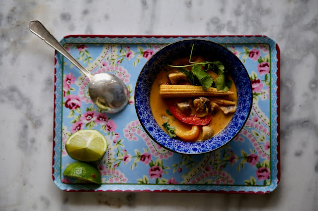 Thai red curry, vegan