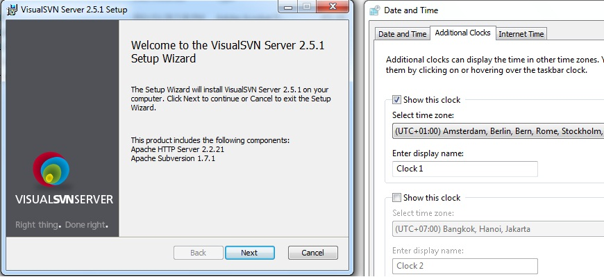Select Options VisualSVN Server and Management Console