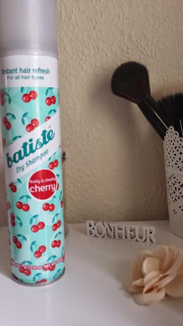 shampoing sec batiste à la cerise