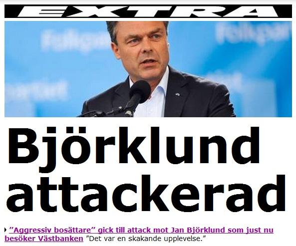 Bjorklund attackerad