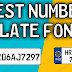 Best Number Plate Fonts