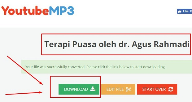 Download Lagu Berformat MP3 dari YouTube Dengan YoutubeMP3.to 2019 2