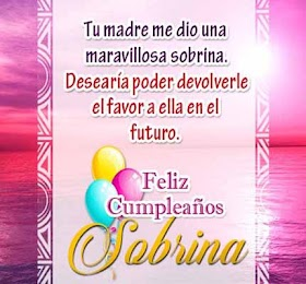 Frases para desear Feliz Cumpleaños Sobrina