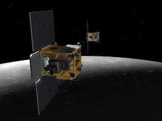 Grail probes on moon