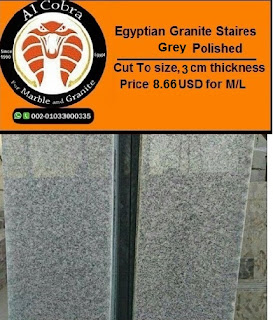 Egyptian  Grey Granite staires