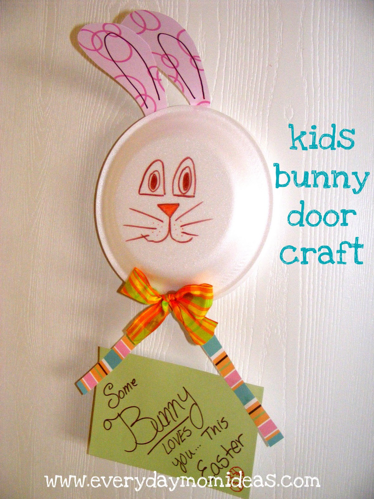 Easter Bunny Door Decor Craft Idea For Kids - Everyday Mom ...
