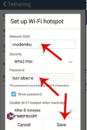 set up wi-fi hotspot