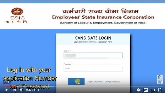How to Make Online Application Fee – ESIC Recruitment 2018-19
