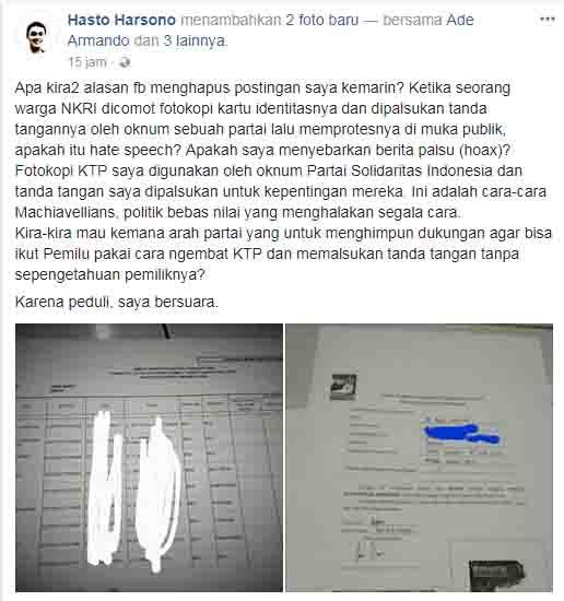 Namanya Dicatut PSI, Tandatangan Dipalsukan, Dr Hasto Tempuh Jalur Hukum