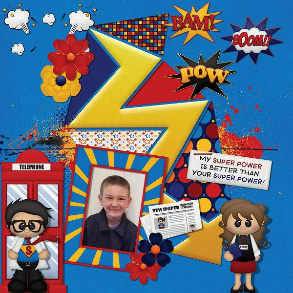 "BoomersGirl Designs: ""He's My Superman"" Digital Kit"