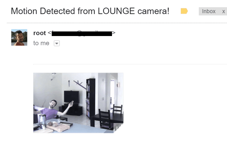 Mostly Harmless: Using an IP camera as a motion detection