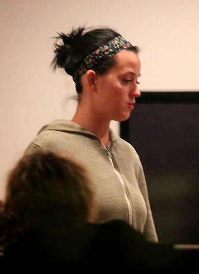 paparazzi Singer Katy Perry is spotted with a straight face
